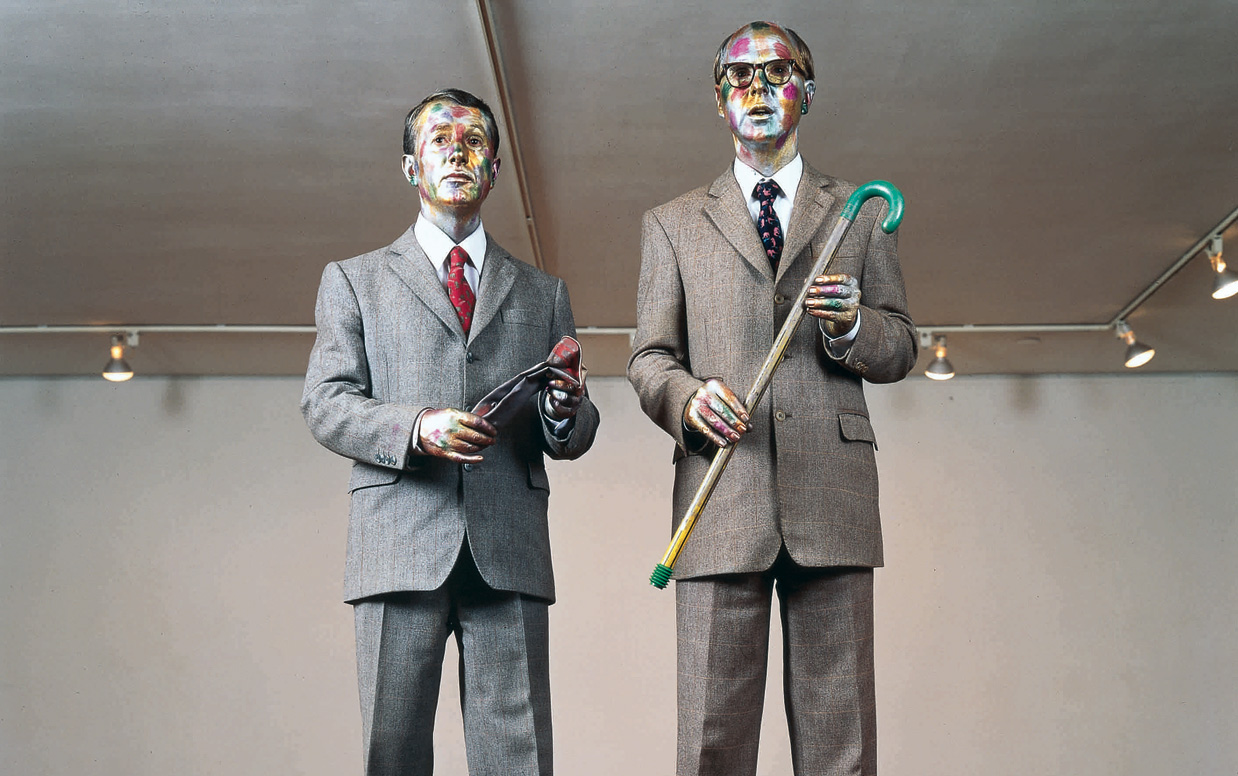 © Philip Haas, The Singing Sculpture 1991 Foto: Gilbert & George, Courtesy by Philip Haas